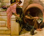 Waterhouse: Diogenes (Detail)